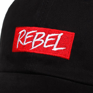 Rebel Baseball Cap - White