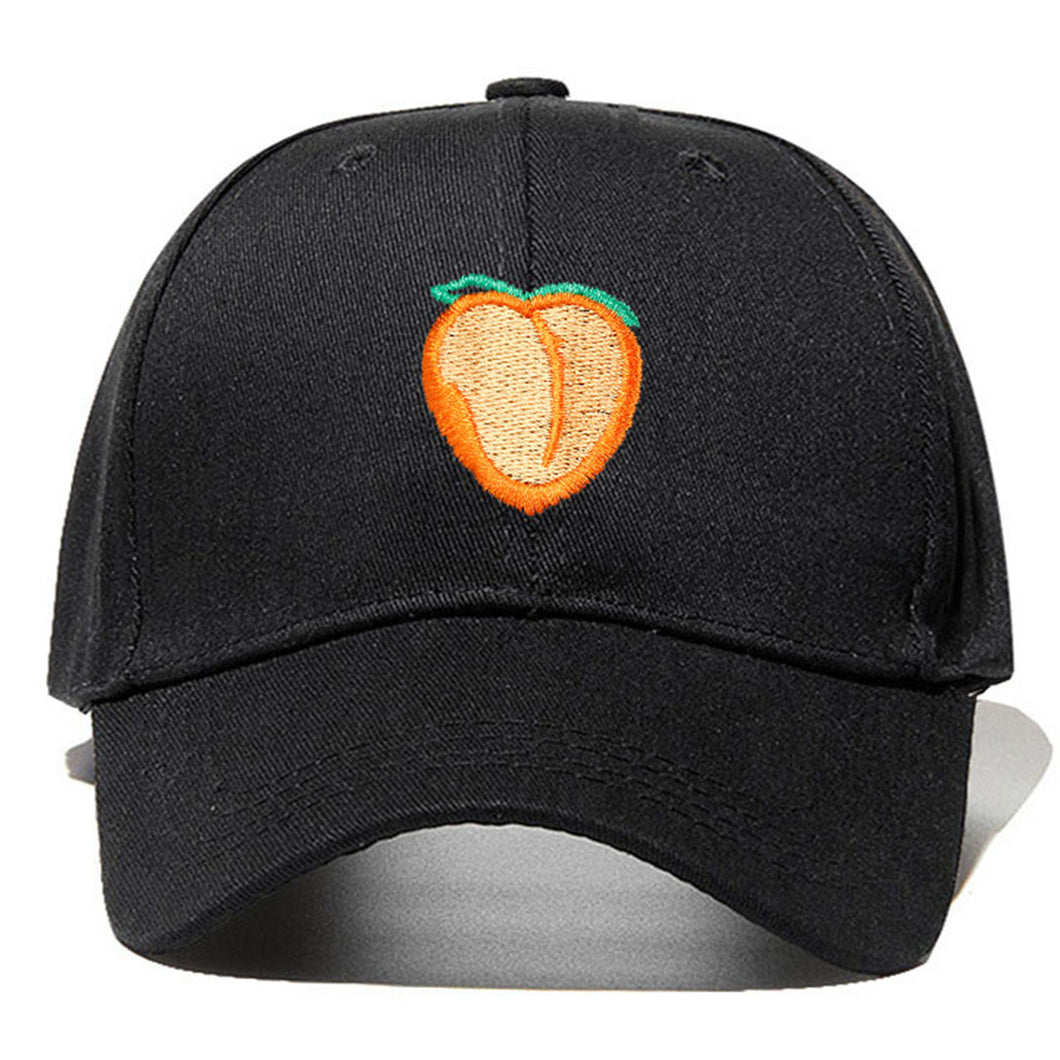 Peach Emblem - Baseball Cap - Black