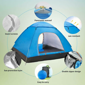 Automatic Pop Up Festival Tent 3-4 Person