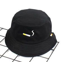 Load image into Gallery viewer, The 'No Chill' Smoker's ♨️ Bucket Hat ft. Convenient Cigarette Holder on Side of Hat - Orange