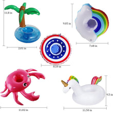 Load image into Gallery viewer, 7 Piece Inflatable Drink Holder Set