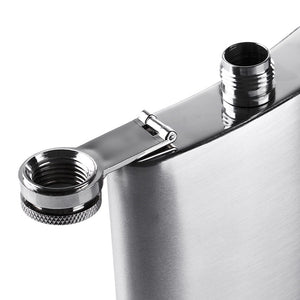 Stainless Steel Hip Flask with Funnel 8 oz