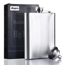 Load image into Gallery viewer, Stainless Steel Hip Flask with Funnel 8 oz