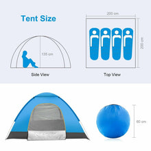 Load image into Gallery viewer, Automatic Pop Up Festival Tent 3-4 Person