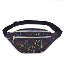 Load image into Gallery viewer, Geometric Waist Bag - Silver
