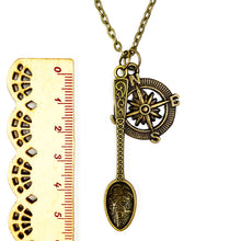 Load image into Gallery viewer, Up Your North Spoon Chain Necklace - Antique Bronze