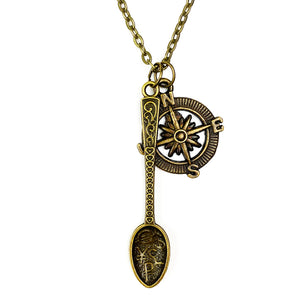 Up Your North Spoon Chain Necklace - Antique Bronze