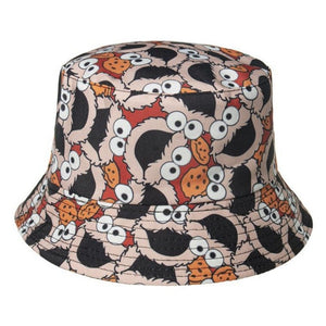 Cookie Monster 2nd Edition Bucket Hat - Grey & Red