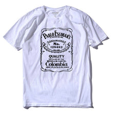 Load image into Gallery viewer, Pablo Escobar Jack Daniel's T Shirt - Cocaine White