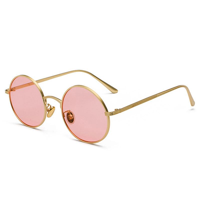 Imagine - Classic Sunglasses - Gold Frame + Pink Lenses