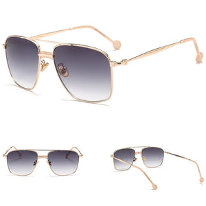 Miami - Men's Sunglasses - Gold Frame + Black Lenses
