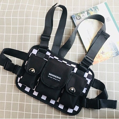 Men's Chest Rig Bag Black & White - Chess Master (Two Designs)