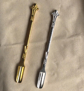 Fashionable Metal Snuff Shovel/Scooper in Gold & Silver