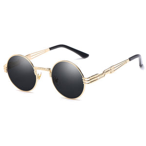 Trapper - Vintage Quavo-Style Sunglasses - Gold Frame + Black Lenses