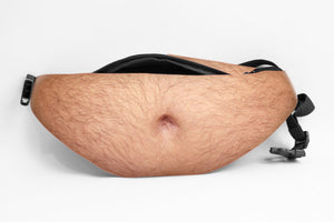 Fat Hairy Dad Belly Waist Bag / Fanny Pack / Bum Bag