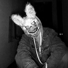Load image into Gallery viewer, Blood Thirsty Halloween Bunny Mask - For Men & Women
