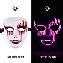 Load image into Gallery viewer, Violet Phantom of the Opera Scary Light Up LED Mask