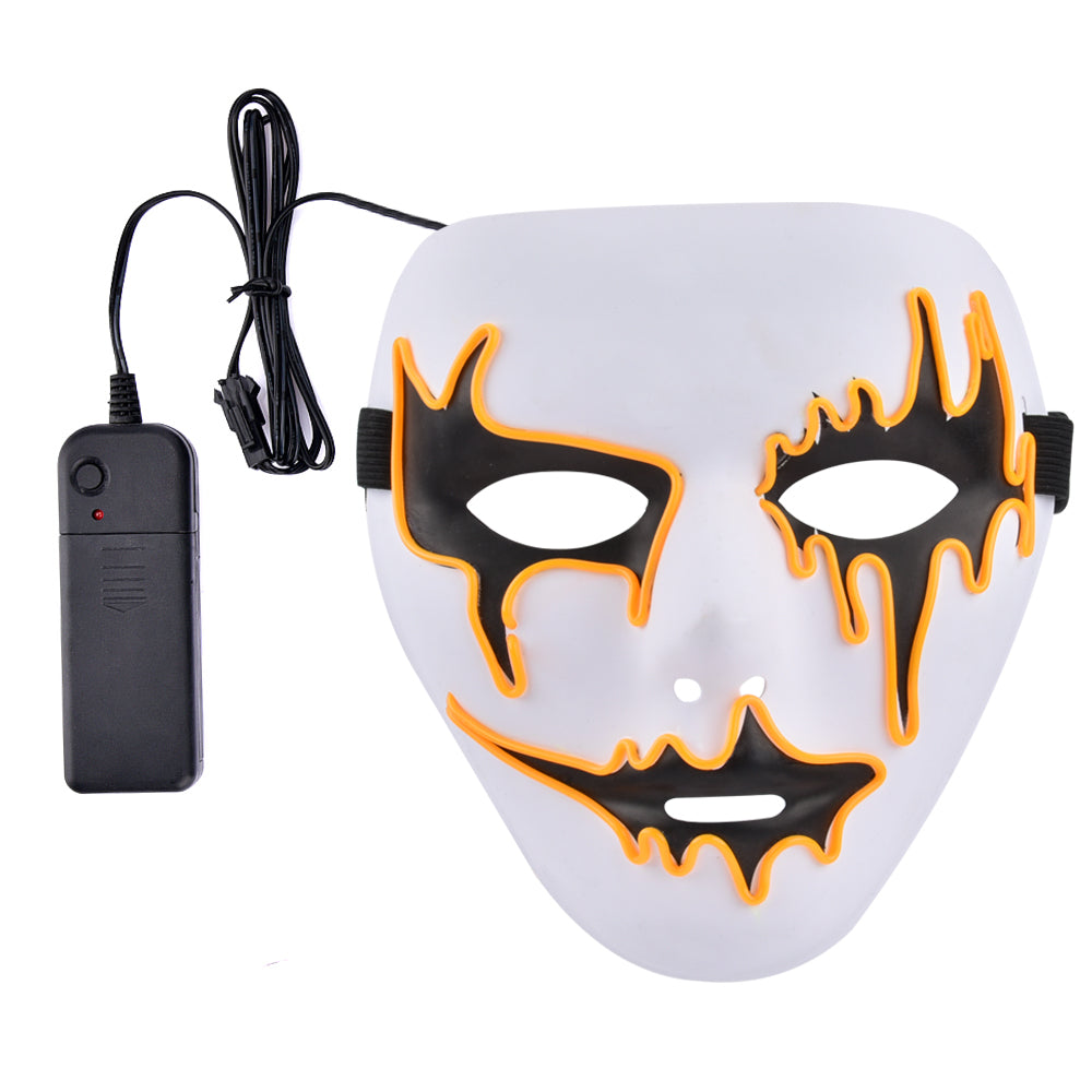 Violet Phantom of the Opera Scary Light Up LED Mask
