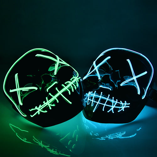 Halloween Purge Mask Light Up Neon (Multiple Colours)