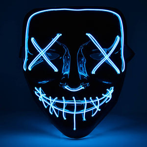 Green Halloween Light Up Neon Purge Mask