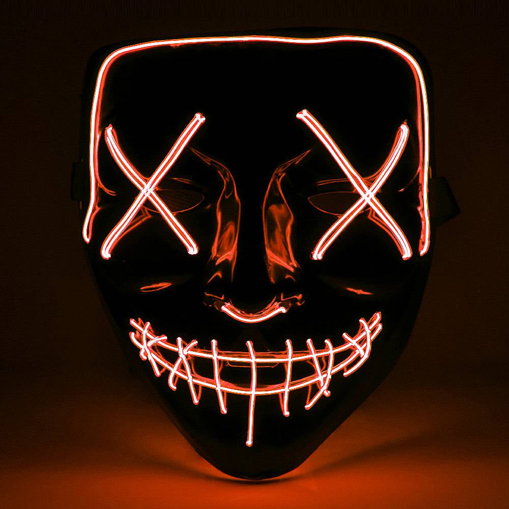 Red Halloween Light Up Neon Purge Mask