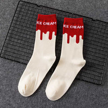 Load image into Gallery viewer, Ice Cream Patterned Skateboarding Socks - Unisex