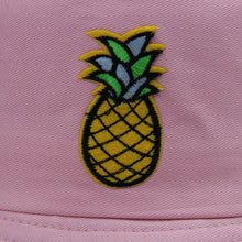 Load image into Gallery viewer, Pineapple Bucket Hat - White