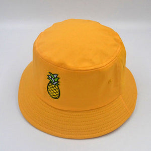 Pineapple Bucket Hat - White