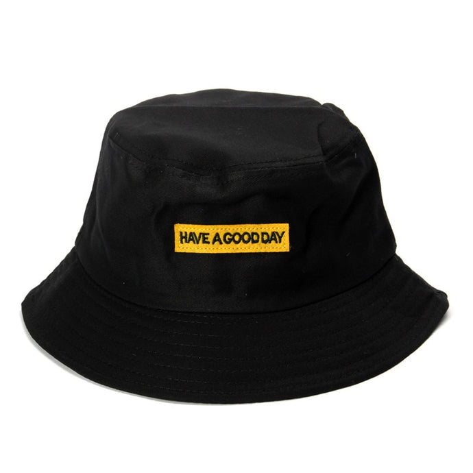 Have A Good Day Bucket Hat with Authentic Detailed Interior Visor