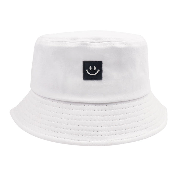 Keep Smiling Bucket Hat - White