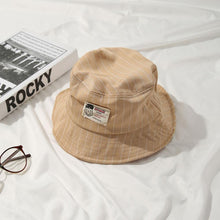 Load image into Gallery viewer, Casual Beige Bucket Hat with White Pinstripe - 6 Colours