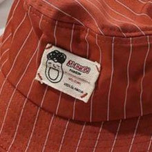 Load image into Gallery viewer, Casual Red-Tan Pinstripe Bucket Hat - 6 Colours