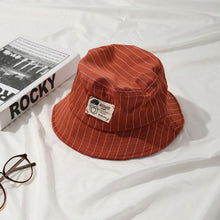 Load image into Gallery viewer, Casual Pinstripe Bucket Hat - Pink
