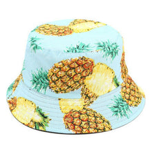 Load image into Gallery viewer, Turquoise Pineapple Edition - Fruit Summer Series - Bucket Hat