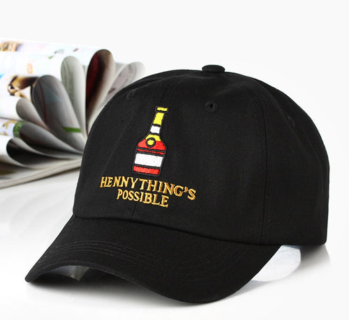 The Henny Lover's Cap - Black