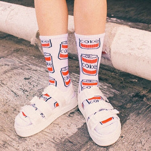 Coke Can Skateboarder Socks - Coke White