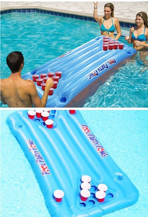 Inflatable Beer Pong - Pool Party Drinking Game