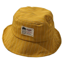Load image into Gallery viewer, Casual Pinstripe Bucket Hat - Red