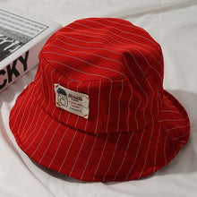 Load image into Gallery viewer, Casual Black Pinstripe Bucket Hat - All Colours (6)