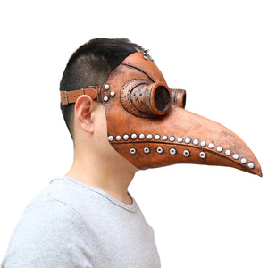 Medieval Steampunk Plague Doctor Mask with Birdlike Beak!  Death's Door - Coal Black
