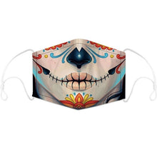Load image into Gallery viewer, Artistic Mouth Masks with Air Filter - Day of the Dead Chicano Girl