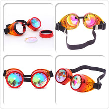 Load image into Gallery viewer, Red & Orange Fusion Goggles with Rainbow Kaleidoscope Lenses 🔮 (X Range)