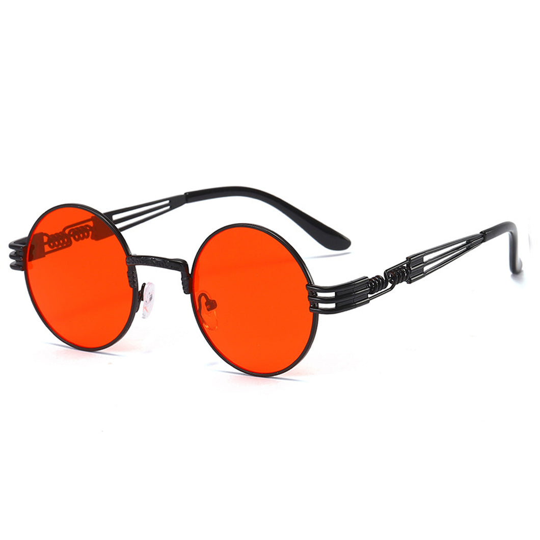 Trapper - Vintage Quavo-Style Sunglasses - Black Frame + Red Lenses