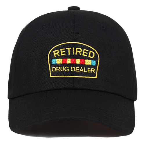 Retired Drug Dealer Cap - Black