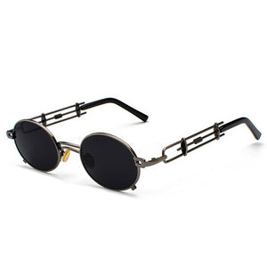 Smokey - Men's Vintage Sunglasses - Gold Frame + Red Lenses