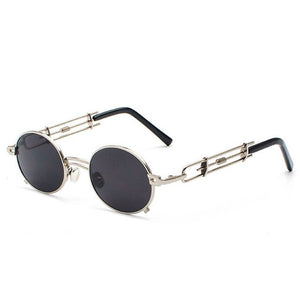Smokey - Men's Vintage Sunglasses - Gold Frames + Black Lenses