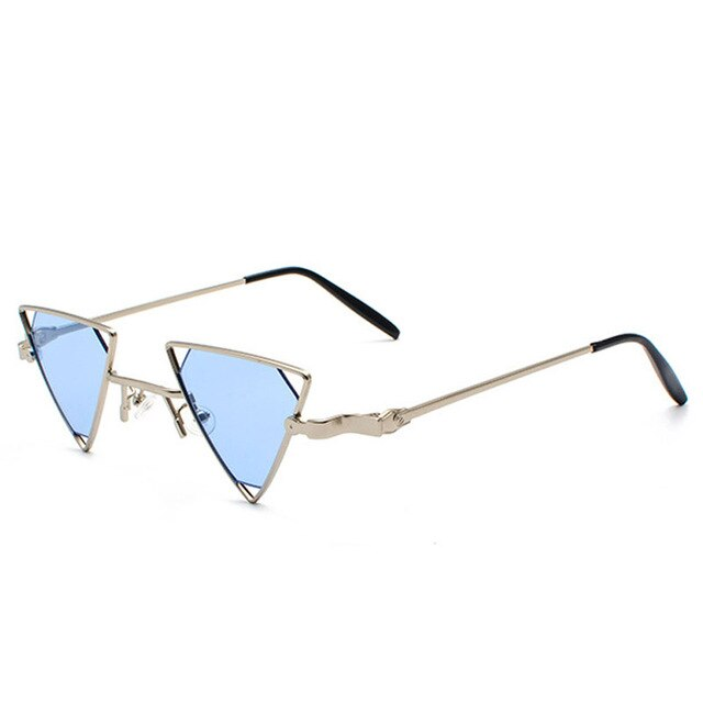 Just Tri Me - Women's Sunglasses - Silver Frame + Light Blue Lenses