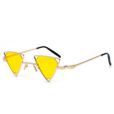 Just Tri Me - Women's Sunglasses - Gold Frame + Yellow Lenses