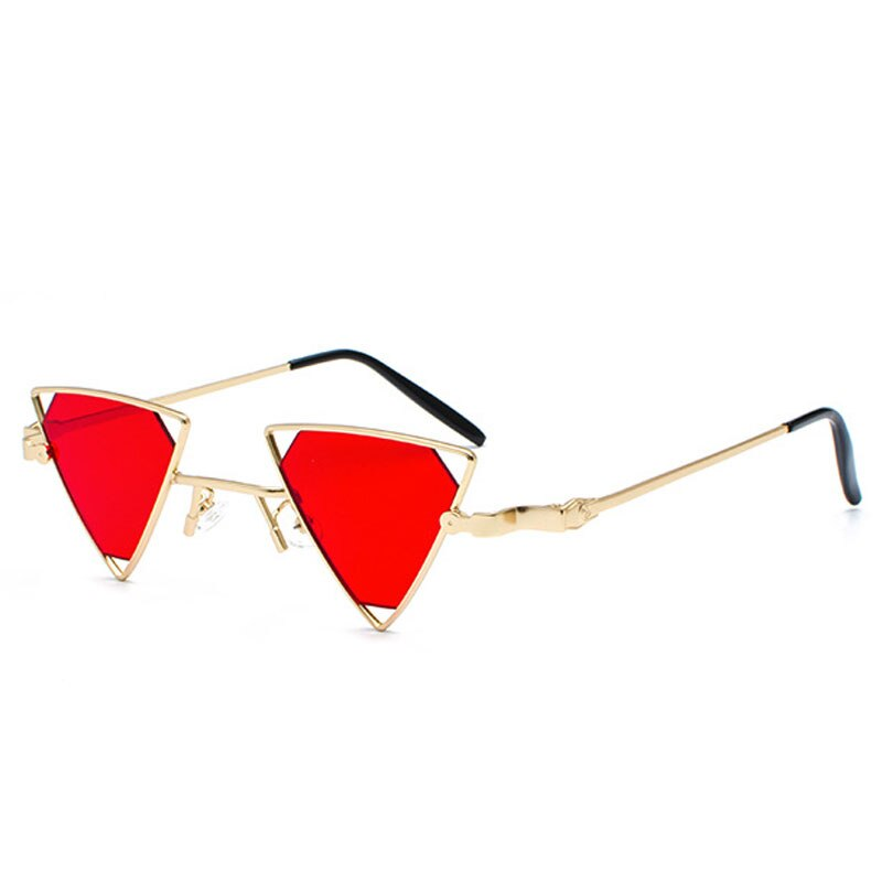 Just Tri Me - Sunglasses - Gold Frame + Red Lenses