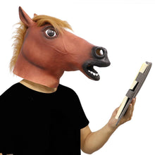 Load image into Gallery viewer, Hilarious Fancy Dress Latex Horse Mask 🐴🍺
